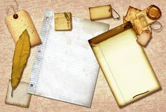 Papel de desecho de la vendimia Imágenes de archivo libres de regalías