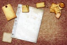 Papel de desecho de la vendimia Fotos de archivo libres de regalías