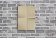 Papel de embalagem na parede cinzenta do birck Imagens de Stock