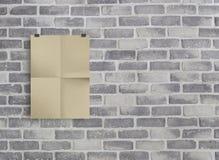 Papel de embalagem na parede cinzenta do birck Fotos de Stock