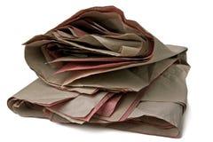 Papel de embalaje arrugado Foto de archivo