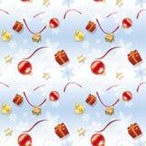 Papel de embalaje azul de la Navidad del niño Foto de archivo