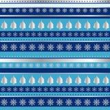 Papel de embalaje azul y de plata de la Navidad Imagen de archivo libre de regalías