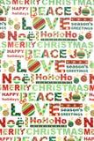 Papel de embalaje colorido de la Navidad Fotos de archivo