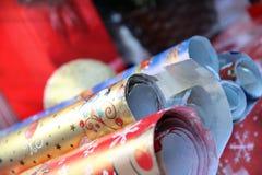 Papel de embalaje de la Navidad Foto de archivo libre de regalías