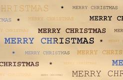 Papel de embalaje de la Navidad Fotos de archivo libres de regalías