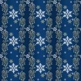 Papel de embalaje de la Navidad del azul y del oro Fotos de archivo