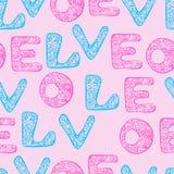 Papel de embalaje del amor Fotos de archivo