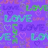 Papel de embalaje del amor Fotos de archivo libres de regalías