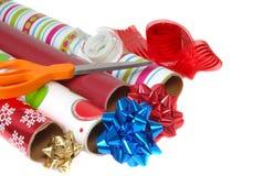 Papel de embalaje festivo Foto de archivo libre de regalías