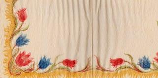 Papel de embalaje floral adornado Fondo lamentable de la vendimia Imagen de archivo