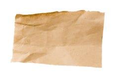 Papel de empacotamento amarrotado de Brown Fotos de Stock Royalty Free