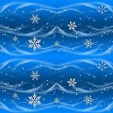 Papel de envolvimento azul e de prata do Natal ilustração do vetor