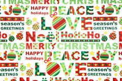 Papel de envolvimento colorido do Natal Foto de Stock Royalty Free