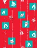 Papel de envolvimento do Natal Fotografia de Stock