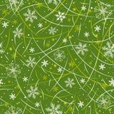 Papel de envolvimento verde do Natal,   Fotografia de Stock