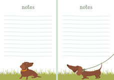 Papel de escrita do papel de nota do bassê Fotos de Stock