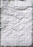 Papel de escuela arrugado viejo Foto de archivo libre de regalías