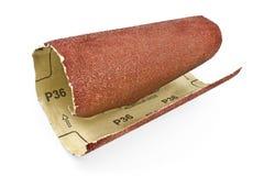 Papel de esmeril - papel de lija imágenes de archivo libres de regalías