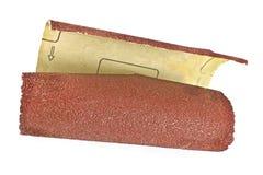 Papel de esmeril - papel de lija Foto de archivo