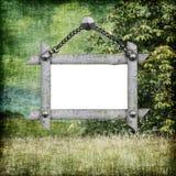 Papel de fundo com frame Fotografia de Stock