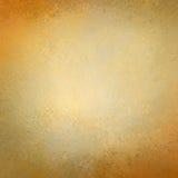 Papel de fundo do ouro maciço com projeto da textura do grunge do vintage Foto de Stock