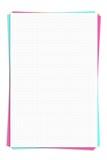 Papel de gráfico blanco en blanco Imágenes de archivo libres de regalías