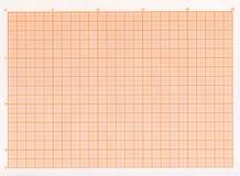 Papel de gráfico en blanco Foto de archivo libre de regalías