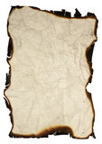 Papel de Grunge com bordas queimadas Foto de Stock