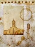 Papel de Grunge com cartão da igreja Fotografia de Stock