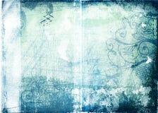 Papel de Grunge con diseños Foto de archivo
