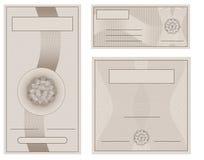 Papel de la colección del certificado de la cupón Imágenes de archivo libres de regalías