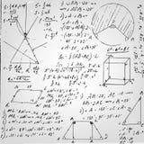 Papel de la fórmula de la geometría Fotografía de archivo