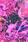 Papel de la goma: Remolinos púrpuras, azules, y del negro imágenes de archivo libres de regalías