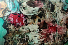 Papel de la goma: Remolinos púrpuras, azules, y del negro imagen de archivo libre de regalías