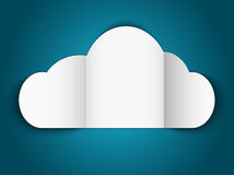 Papel de la nube Imagenes de archivo