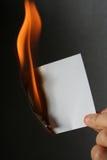 Papel de la quemadura Fotografía de archivo
