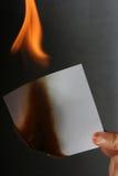 Papel de la quemadura Imagen de archivo libre de regalías