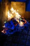Papel de la quemadura Imagenes de archivo