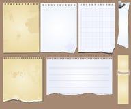 Papel de la tablilla de los elementos del libro de recuerdos del grunge del vector Foto de archivo