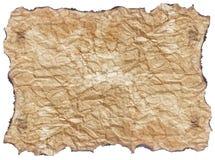Papel de la textura con los bordes quemados Fotografía de archivo libre de regalías