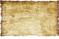Papel de la vendimia aislado sobre blanco Foto de archivo