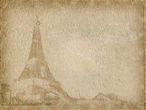 Papel de la vendimia con Eiffel Imagen de archivo