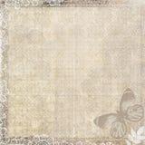 Papel de la vendimia con la mariposa Fotos de archivo libres de regalías