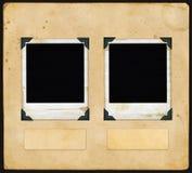 Papel de la vendimia - con la polaroid Imagen de archivo libre de regalías