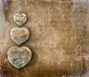 Papel de la vendimia con los corazones Fotos de archivo libres de regalías