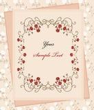 Papel de la vendimia sobre fondo floral Fotografía de archivo libre de regalías