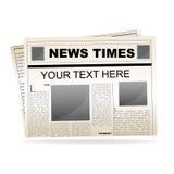 Papel de las noticias Fotografía de archivo