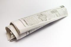 Papel de las noticias del rodillo fotografía de archivo libre de regalías
