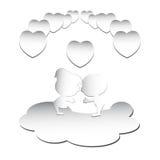 Papel de las tarjetas del día de San Valentín Fotos de archivo libres de regalías